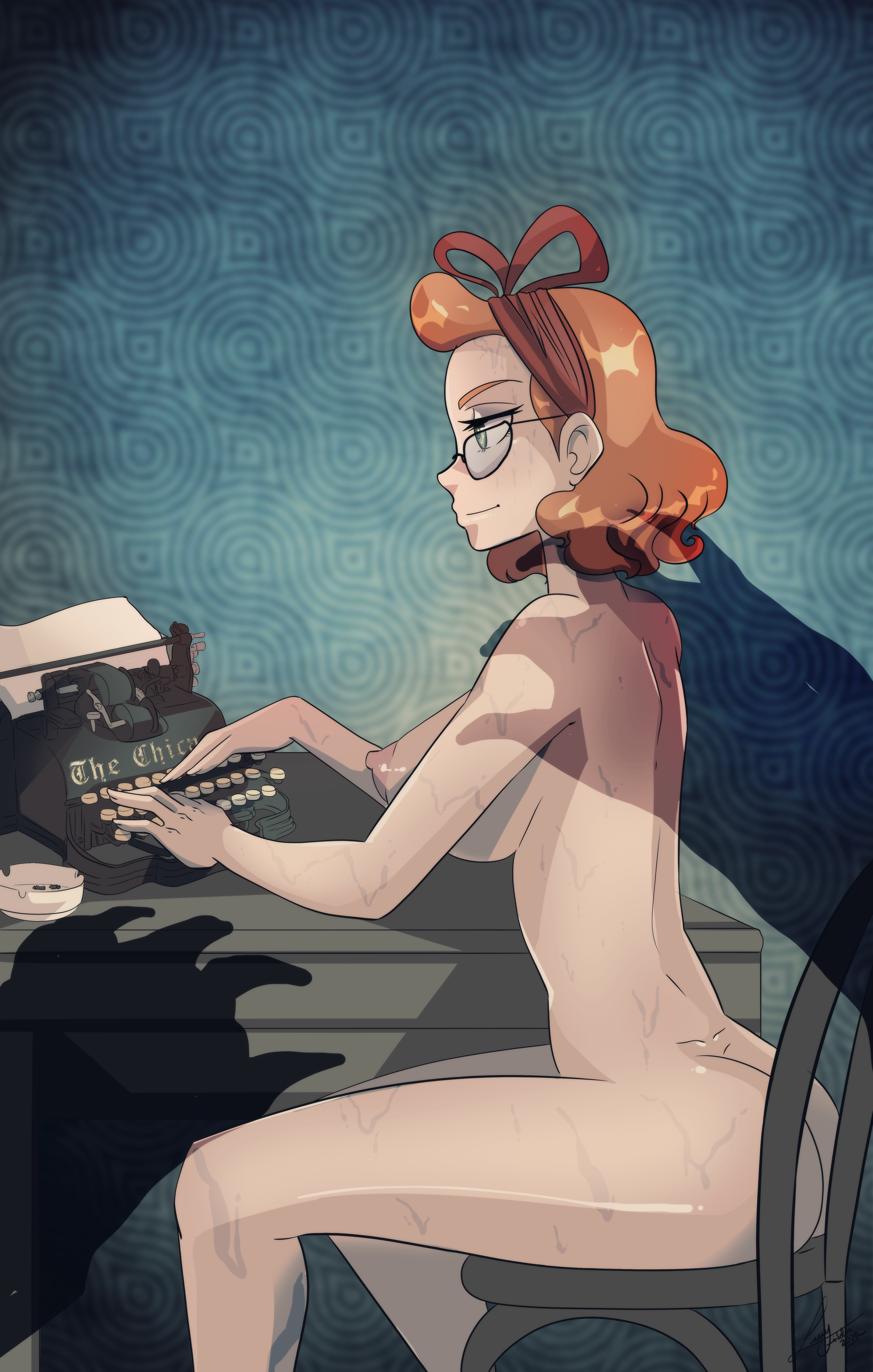 Naked and sweating, the narrator of one of E.M. Beastly writes her hot notes up before she vanishes forever into a sensual oceanic realm beneath.